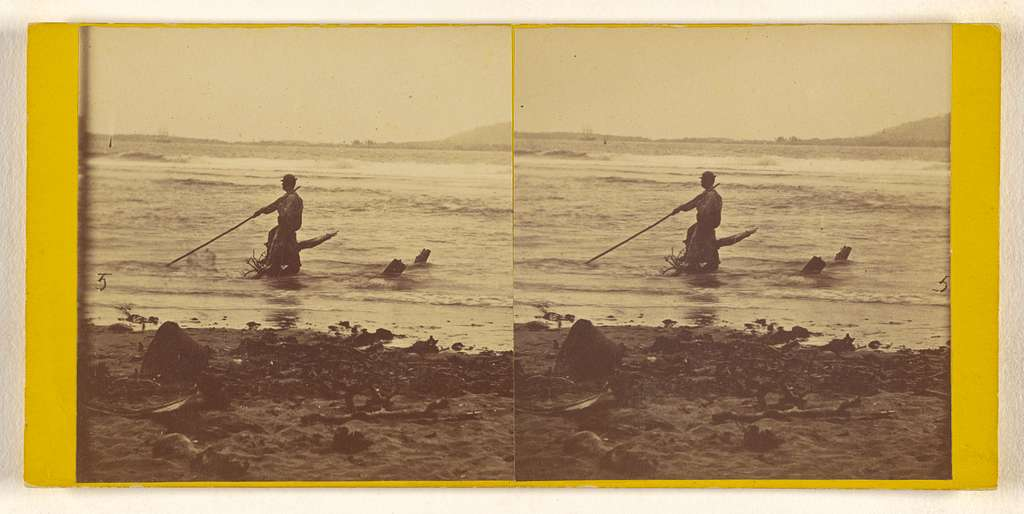 [View Cooking out to Sea. Caladonia Harbor. Darien Expedition.]