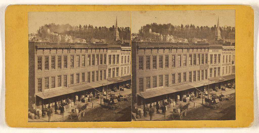 [View of unidentified American town]