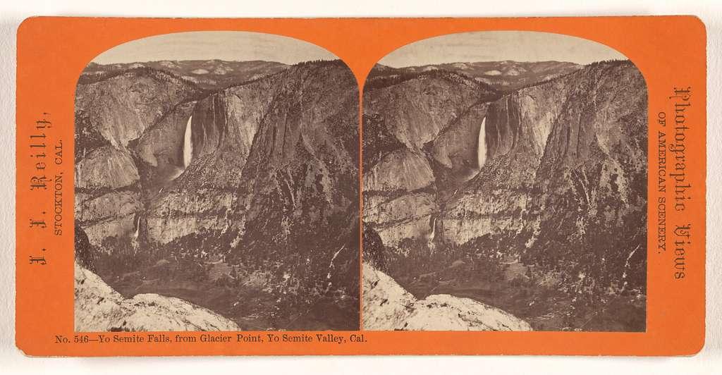 Yo Semite Falls, from Glacier Point, Yo Semite Valley, Cal.
