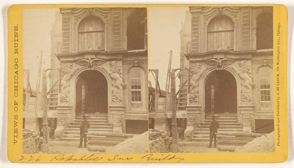 [Republic Insurance Building, Ruins of the Chicago Fire, 1871]