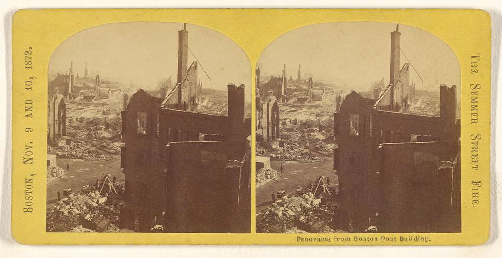 Panorama from Boston Post Building. [The Summer Street Fire. Boston, Nov. 9 and 10, 1872.]