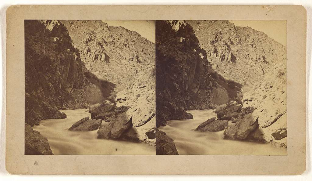 [Weber Canyon, Side gorge, The Great Interior Basin, Wahsatch Range of Rocky Mountains.]