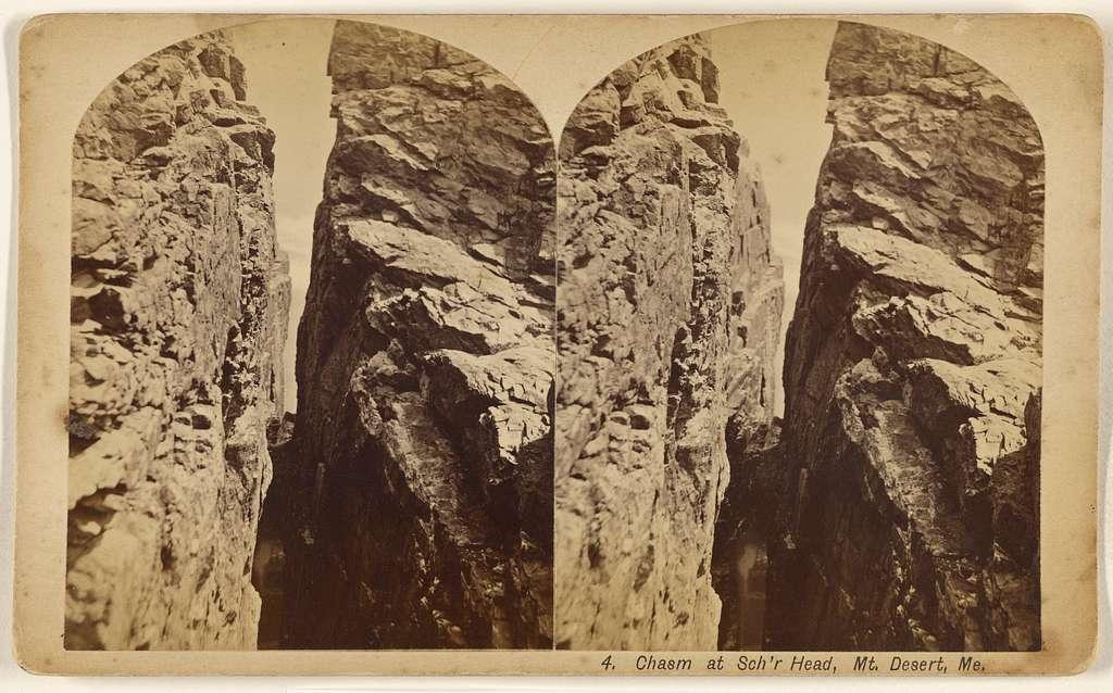 Chasm at Sch'r Head, Mt. Desert, Me.