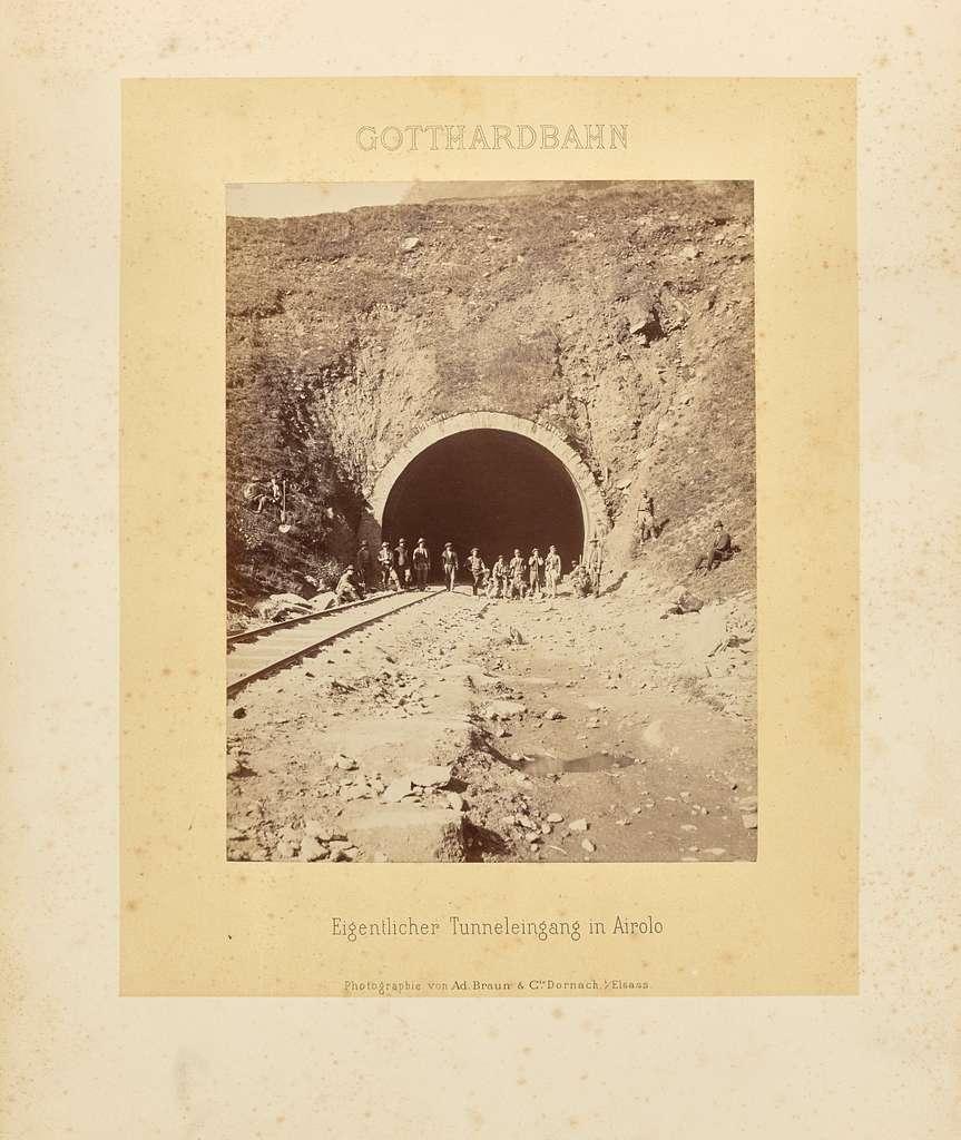 Gotthardbahn: Eigentlicher Tunneleingang in Airolo