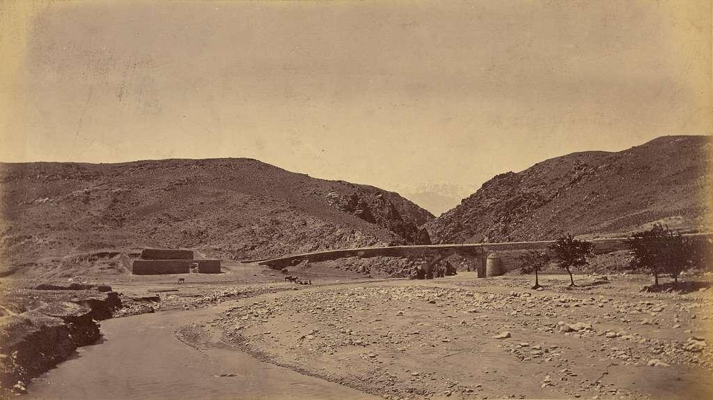 Surakh-aub, Bridge showing Gorge