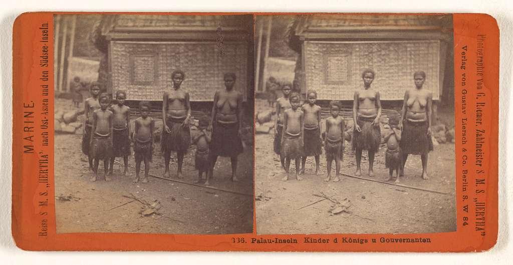 Palau-Inseln Kinder d Konigs u Gouvernanten