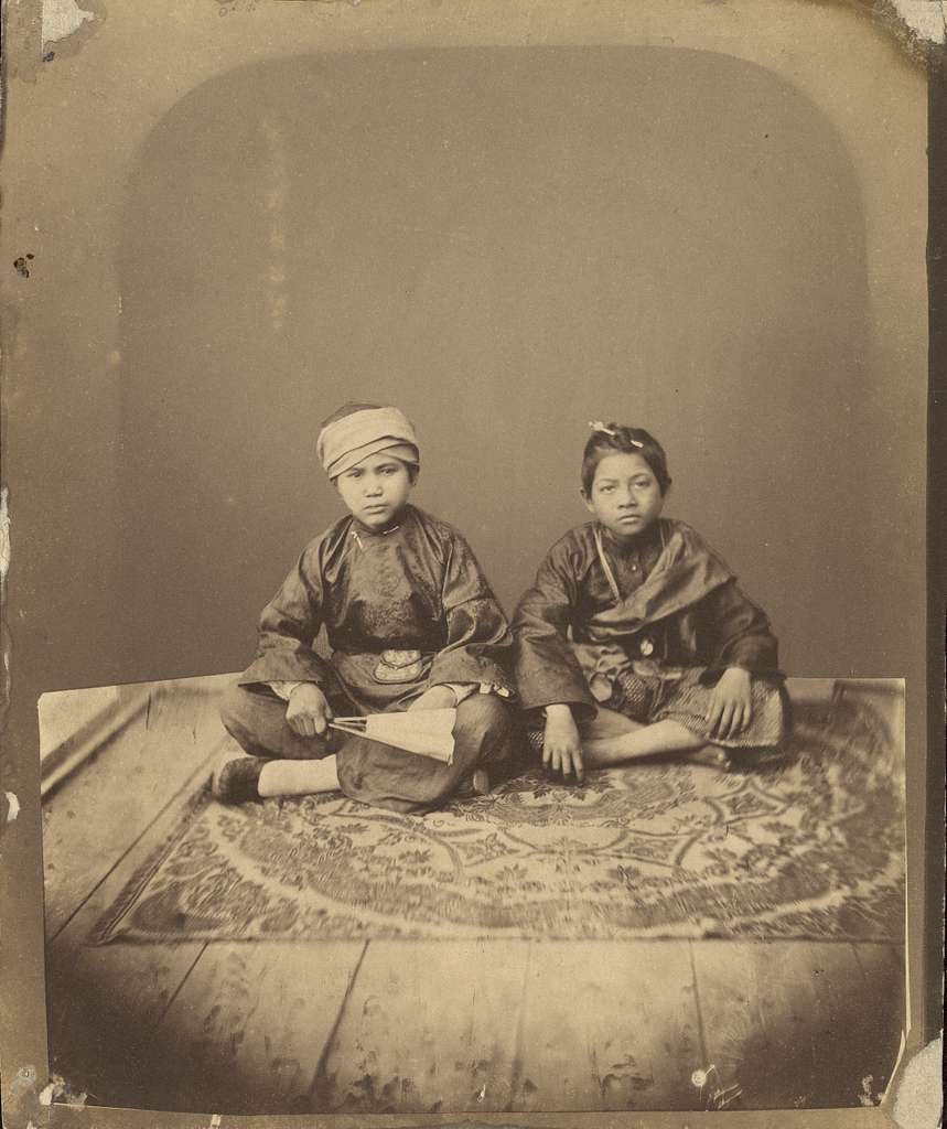 [Two children]