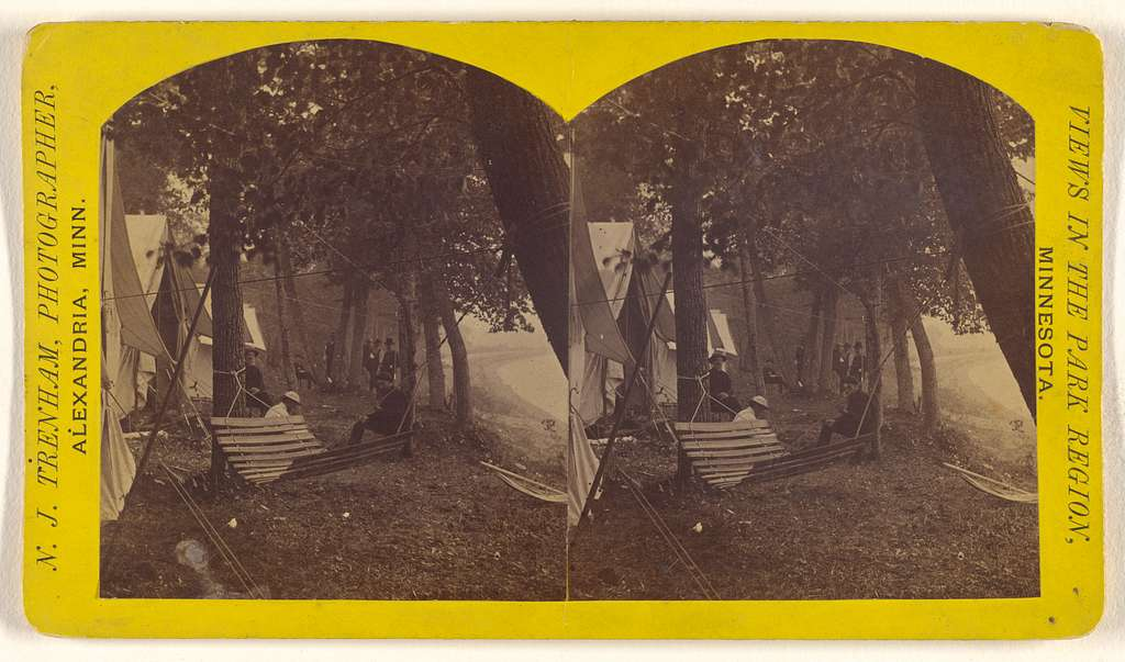 [Camp on Lake Carlos, Alexandria, Minnesota]