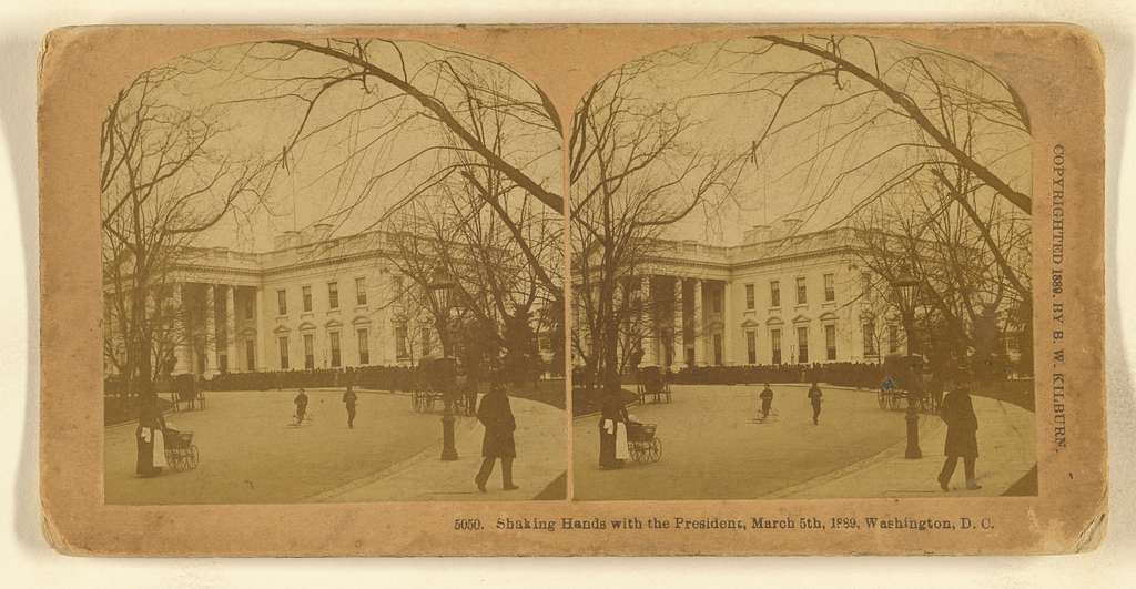 Shaking Hands with the President, March 5th, 1889, Washington, D.C. U.S.A.