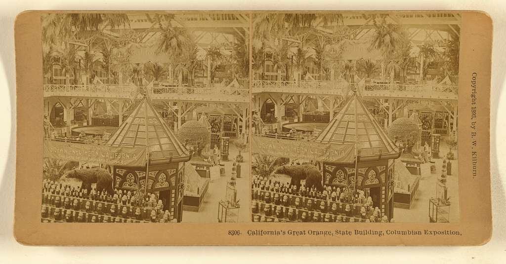 California's Great Orange, State Building, Columbian Exposition.
