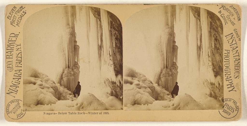 Niagara - Below Table Rock - Winter of 1893.