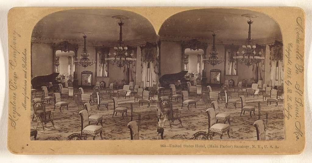 United States Hotel, (Main Parlor) Saratoga, N.Y., U.S.A.